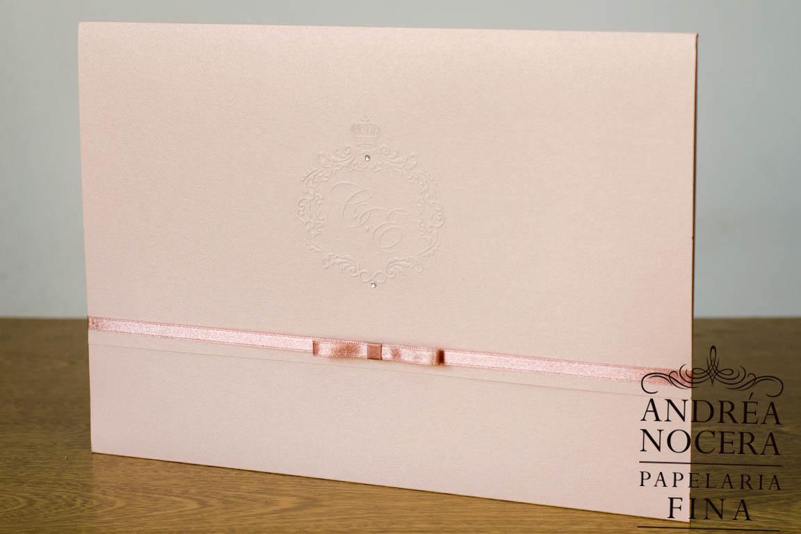 Convite de Casamento com impressão no forro